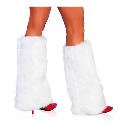 Buy Pair of Fur Boot Cover Fluffies from Rave Fix for $28.99 with Same Day Shipping Designed by Roma Costume C121-WHT-O/S