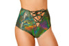 Buy Lace-Up High Waisted Shorts from Rave Fix for $28.00 with Same Day Shipping Designed by Roma Costume 3457-Green-S/M