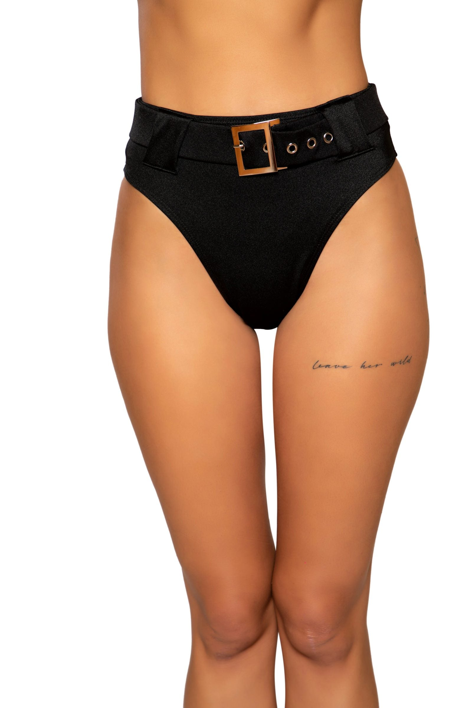 High Rise High-Waisted Shorts with Belt Detail
