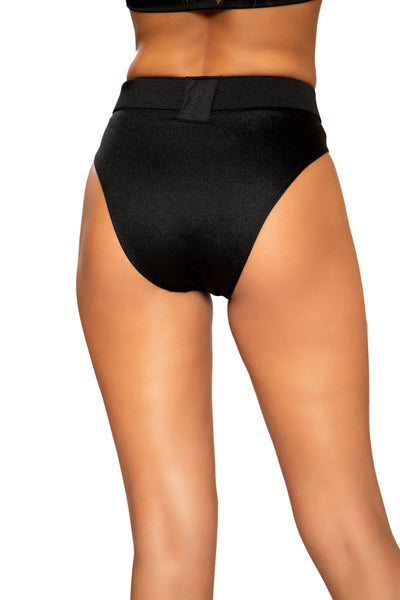 Buy High Rise High-Waisted Shorts with Belt Detail from Rave Fix for $25.99 with Same Day Shipping Designed by Roma Costume 3749-Blk-S/M