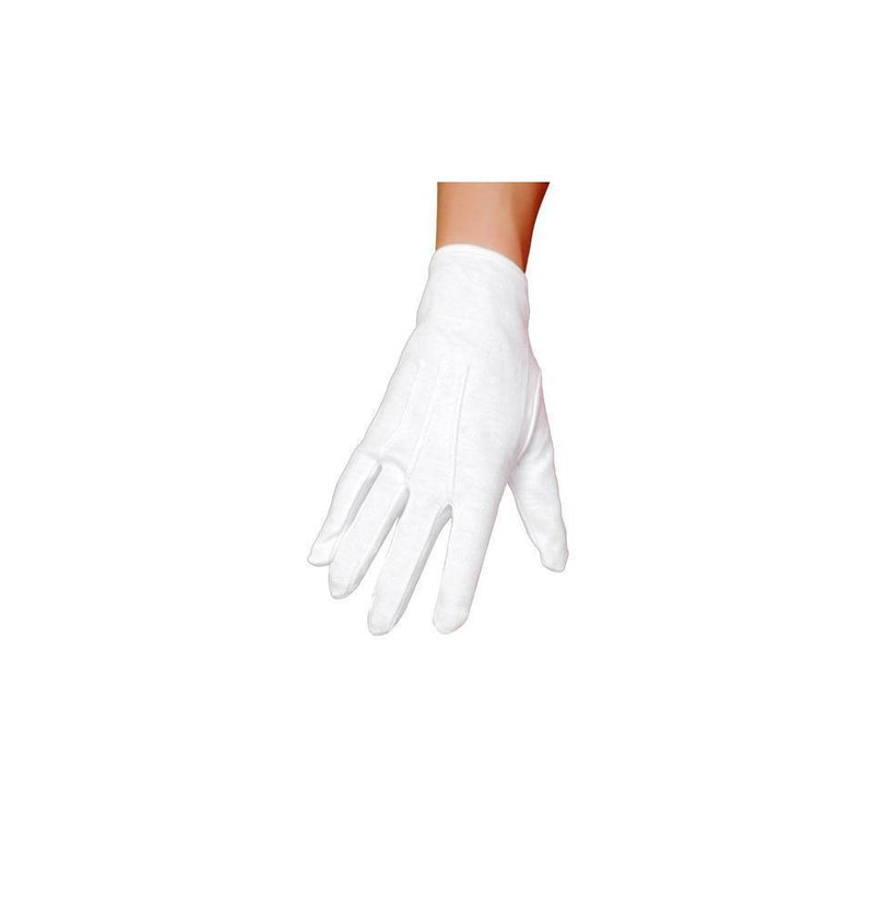 Buy GL102 White Gloves from Rave Fix for $5.25 with Same Day Shipping Designed by Roma Costume GL102-AS-O/S