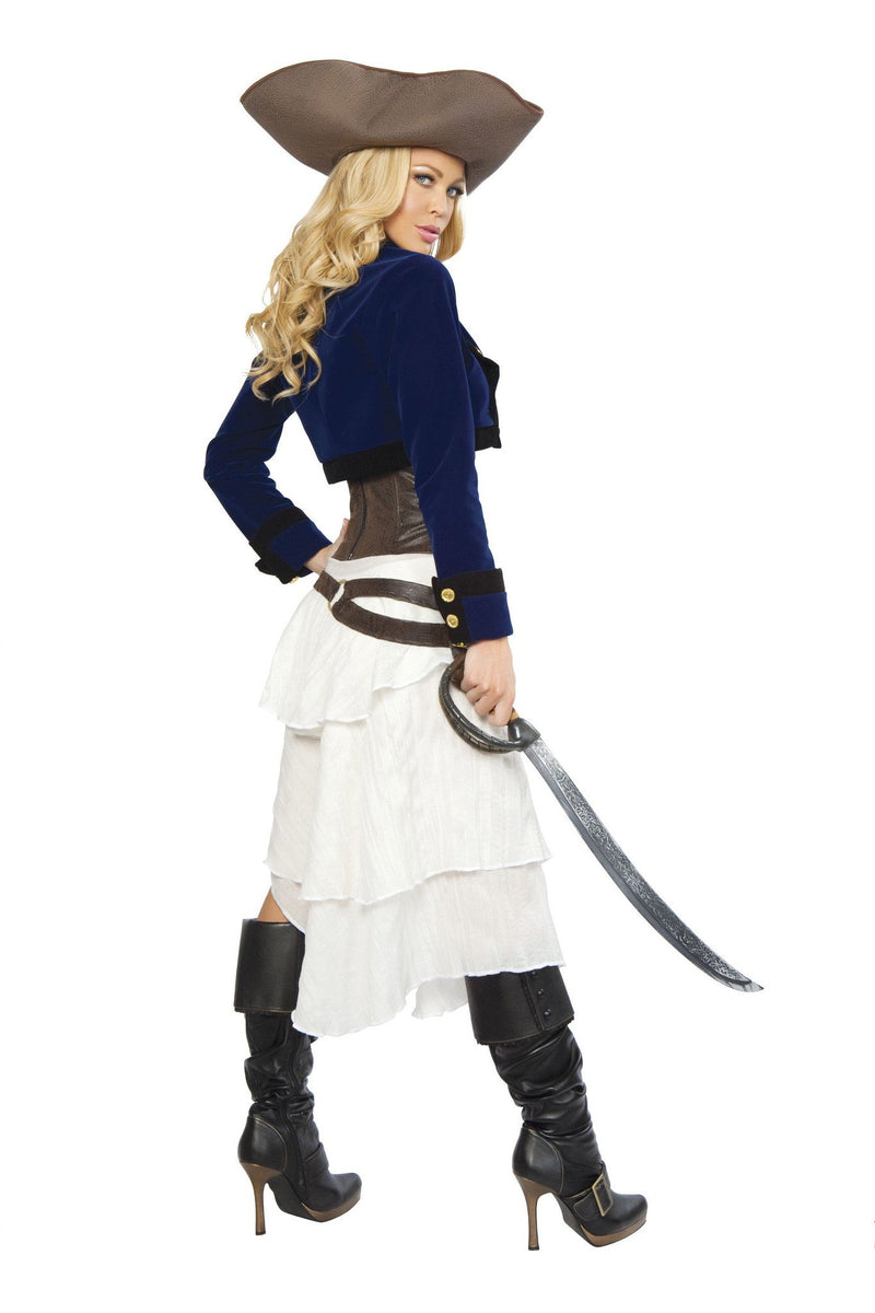 Buy 4245 - Deluxe 6pc Colonial Pirate from Rave Fix for $97.50 with Same Day Shipping Designed by Roma Costume 4245-AS-S