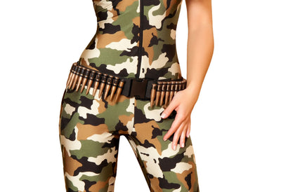 Buy Brown Bullet Belt from Rave Fix for $14.99 with Same Day Shipping Designed by Roma Costume 4387-AS-O/S