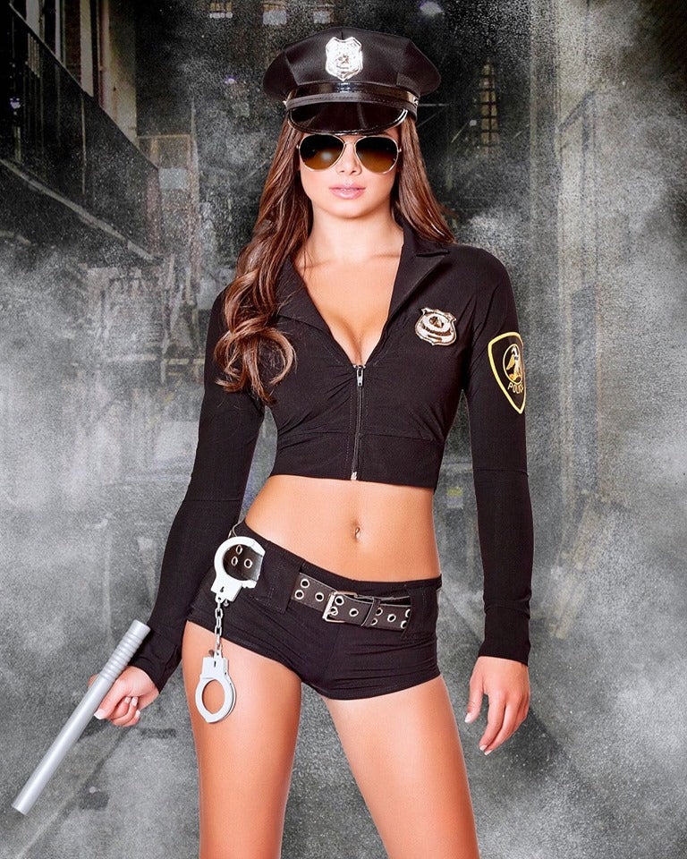 Buy 7PC Officer Hottie Costume from Rave Fix for $69.99 with Same Day Shipping Designed by Roma Costume 4500-AS-S/M