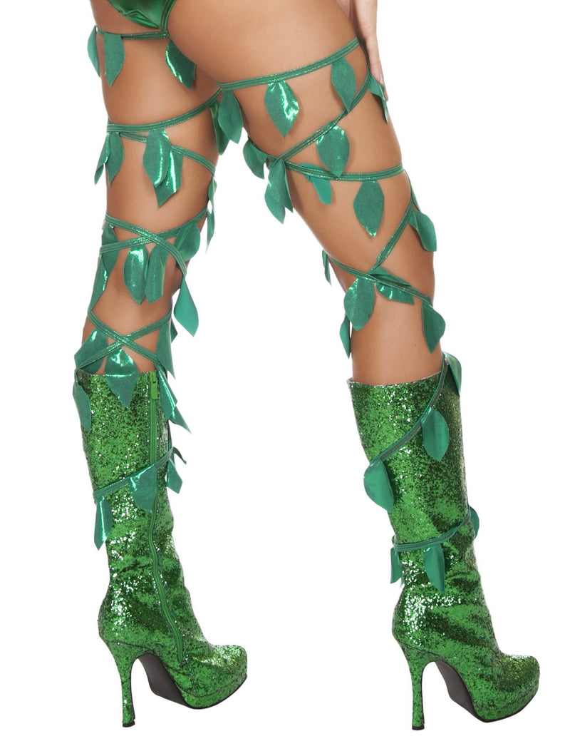 Buy 4642 - Green Leaf Thigh Wraps from Rave Fix for $15.00 with Same Day Shipping Designed by Roma Costume, Inc. 4642-AS-O/S