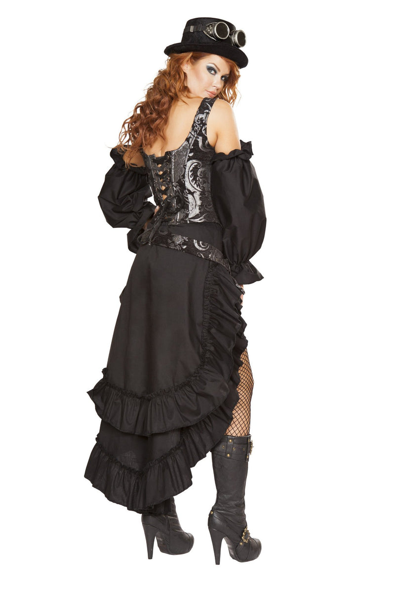 6pc Sexy Steampunk Maiden Pirate Costume