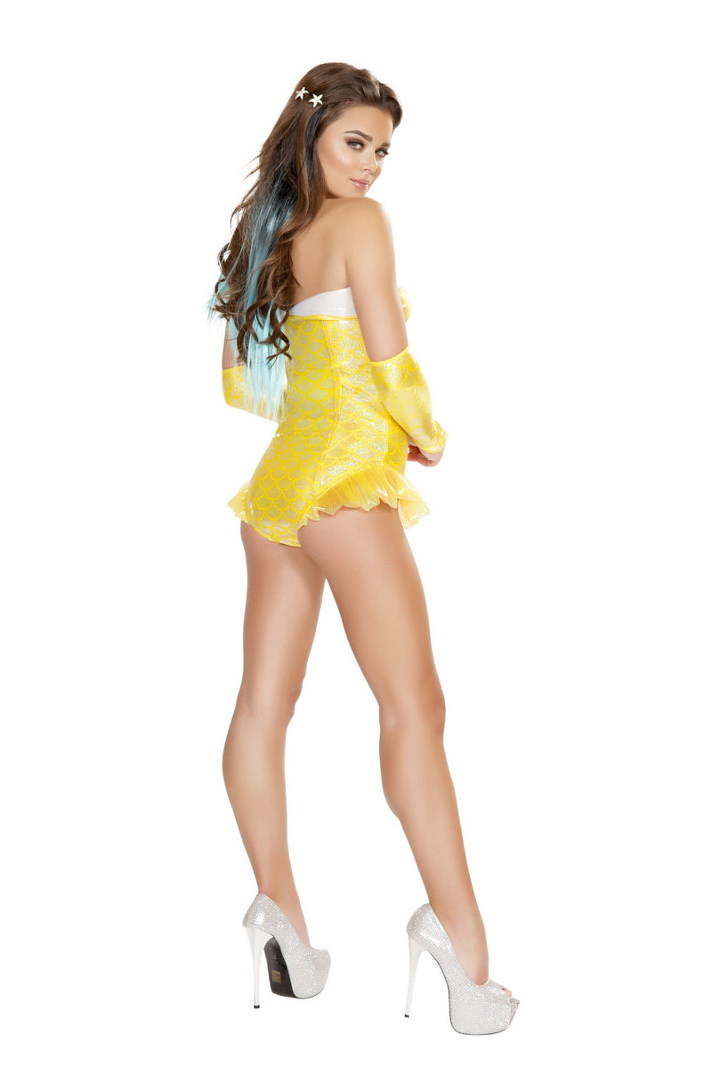 1pc Yellow Mermaid Costume