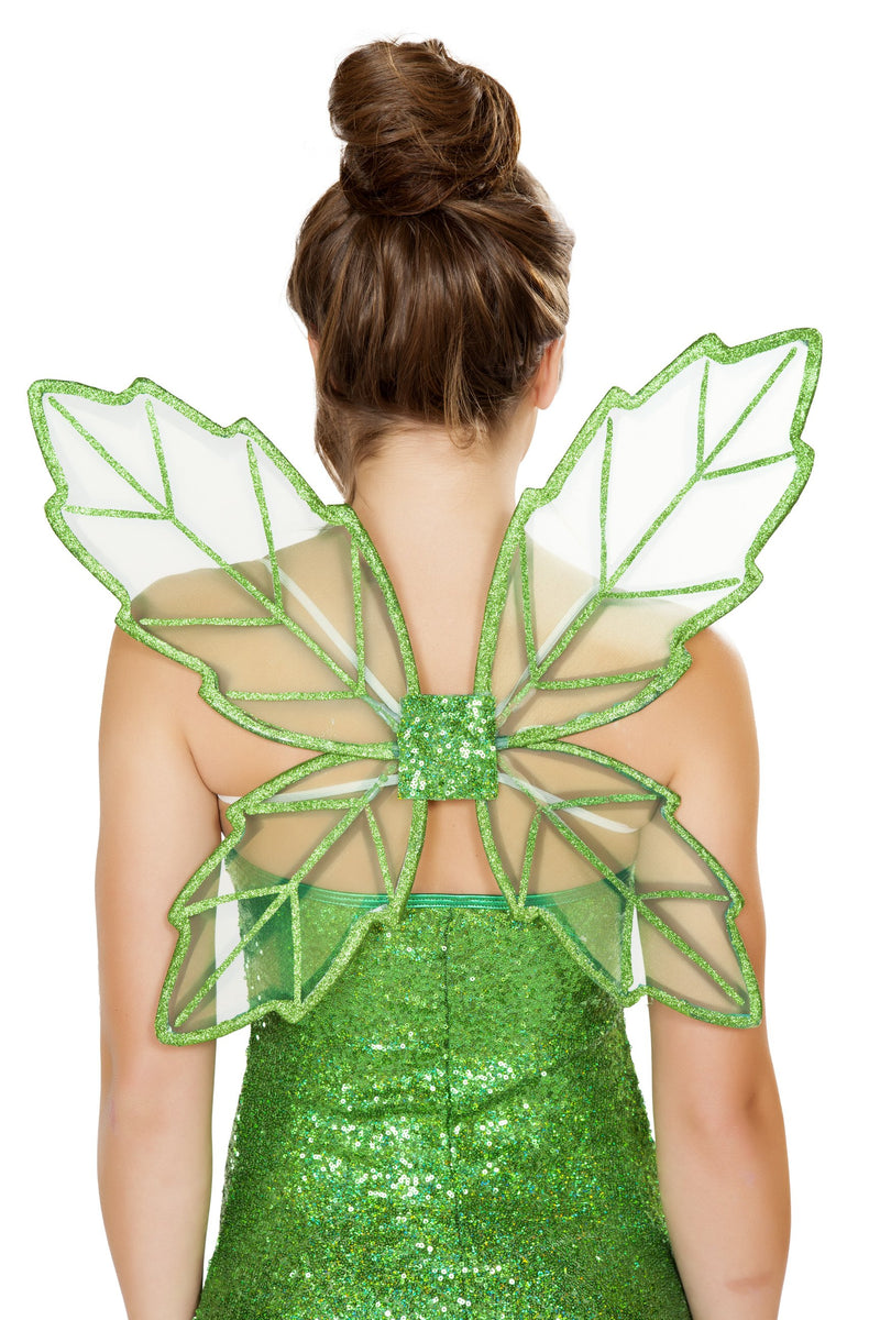 Buy Green Fairy Wings from Rave Fix for $14.99 with Same Day Shipping Designed by Roma Costume, Inc. 4728-AS-O/S