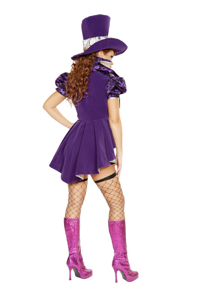 4pc Mad As a Hatter Costume