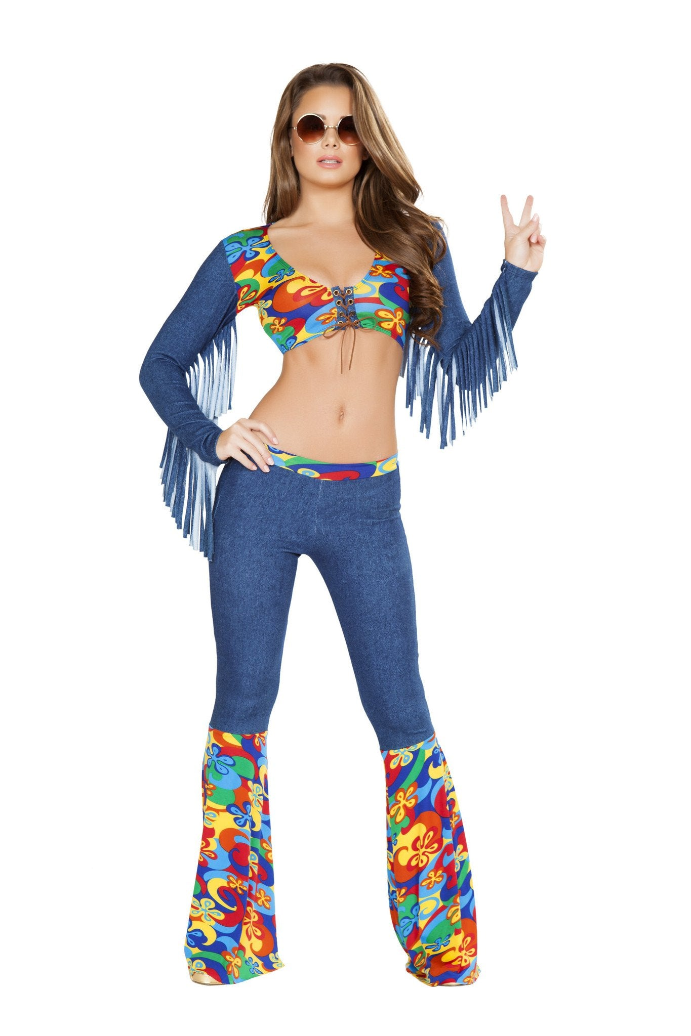 Buy 4749 - 2pc Groovy Love Child from Rave Fix for $56.25 with Same Day Shipping Designed by Roma Costume 4749-AS-L