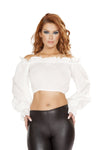 Buy 4769 - Ruffled Pirate Tube Top with Sleeves from Rave Fix for $11.25 with Same Day Shipping Designed by Roma Costume 4769-Wht-L