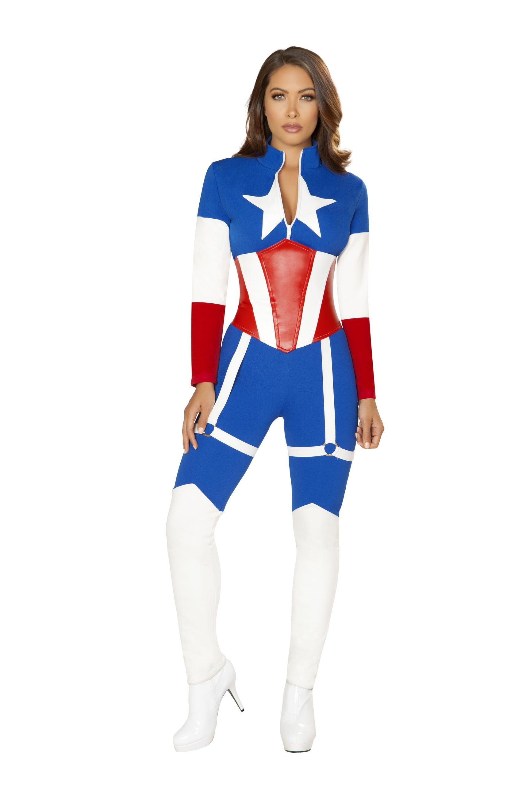 4852 - Roma Costume 2pc American Commander Marvel Captain America