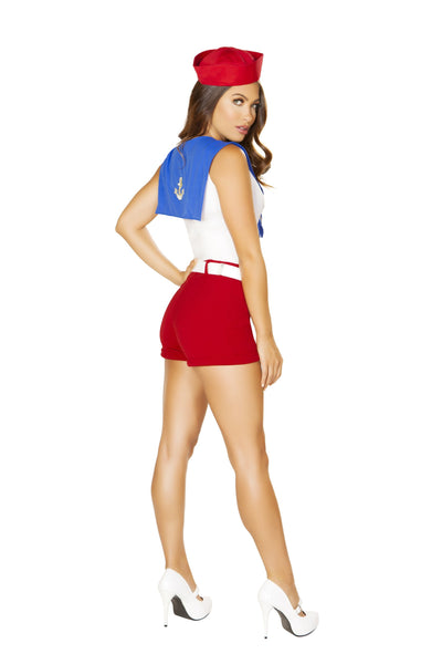 4861 - Roma Costume 4pc Ahoy Navy Sailor Sexy Red White Blue
