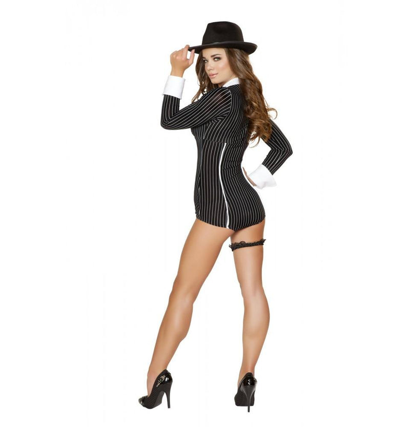 Buy 4504 - 1pc Mischievous Mobster Babe Costume from Rave Fix for $37.50 with Same Day Shipping Designed by Roma Costume 4504-AS-M/L