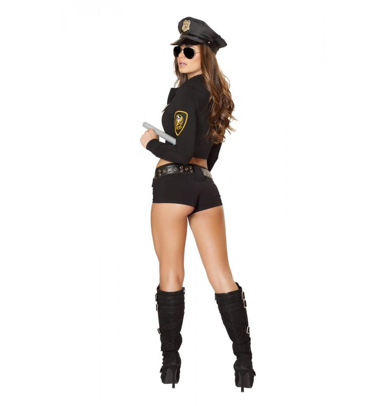 Buy 7PC Officer Hottie Costume from Rave Fix for $52.50 with Same Day Shipping Designed by Roma Costume 4500-AS-S/M