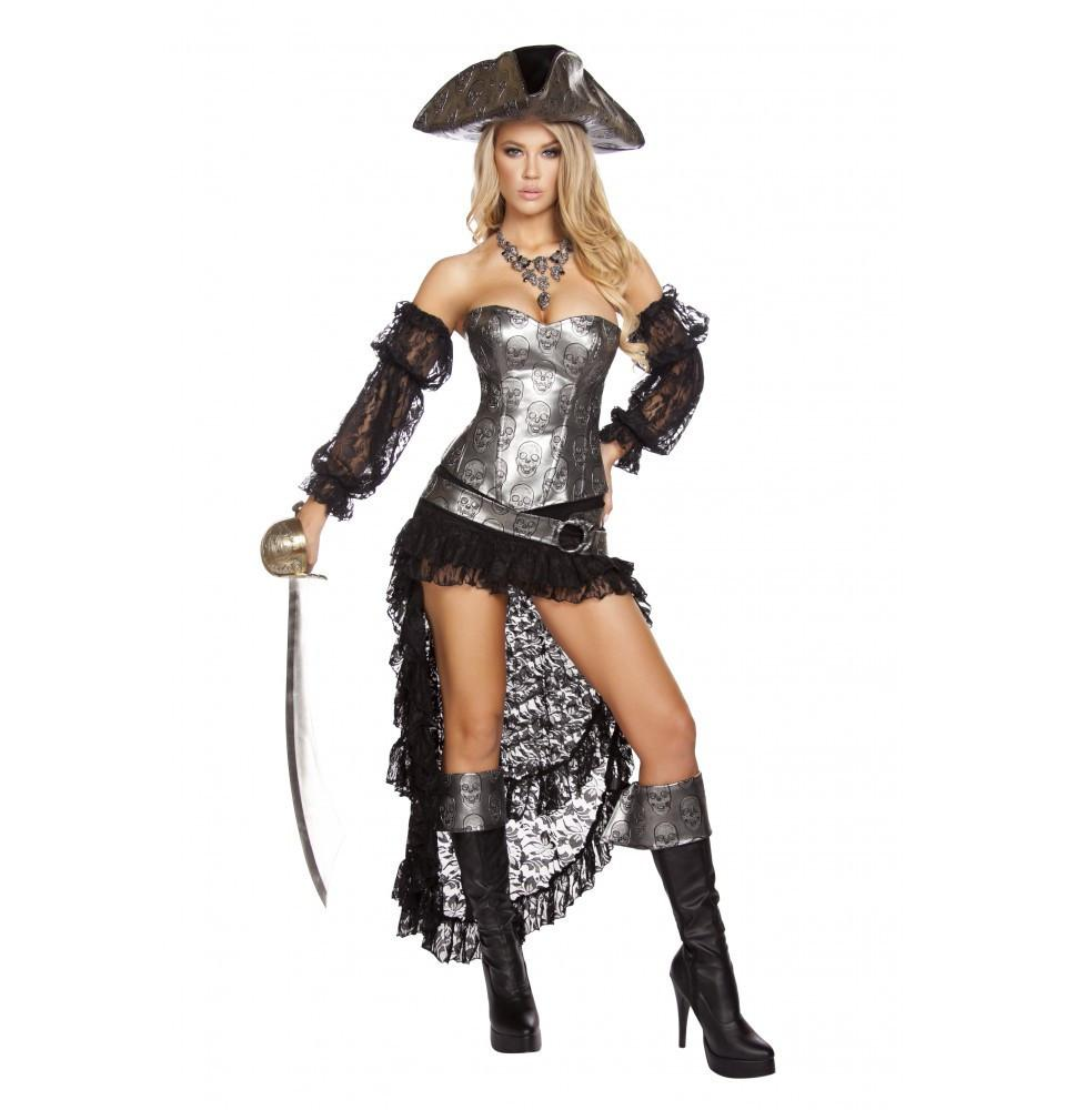 4572 4pc Deadly Pirate Captain - Roma Costume Costumes,New Products,New Arrivals - 1