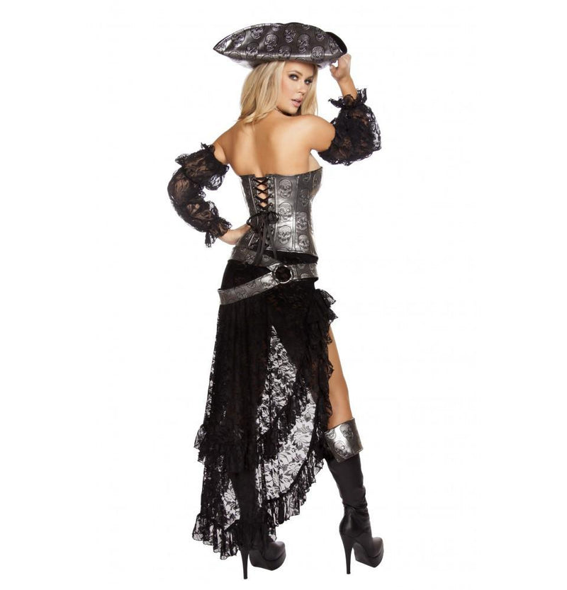 Buy 4pc Deadly Pirate Captain Costume from Rave Fix for $89.25 with Same Day Shipping Designed by Roma Costume, Inc. 4572-AS-S