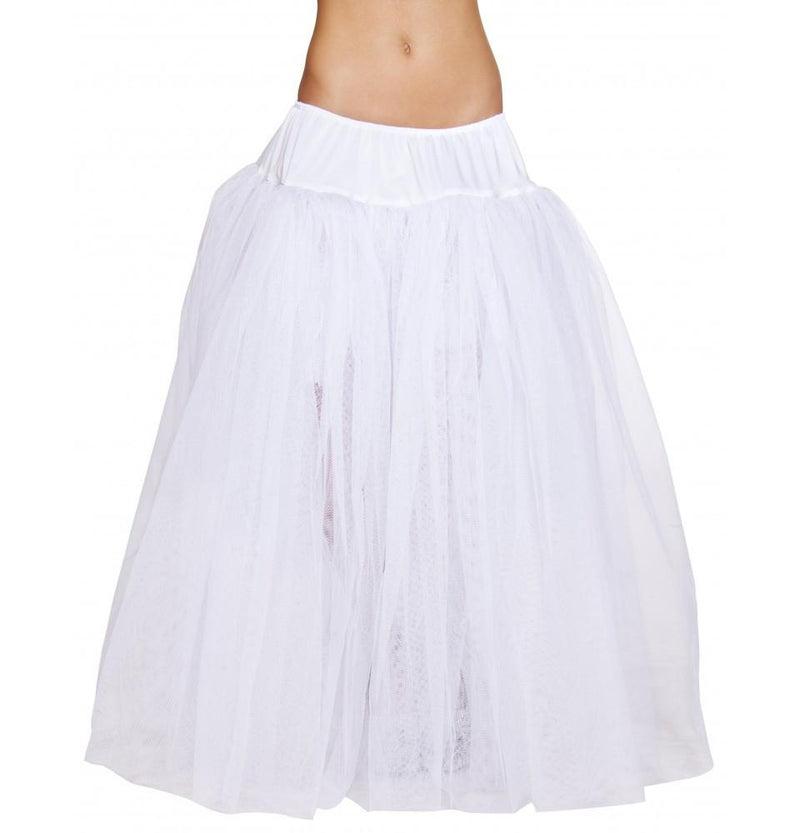 Buy 4554 - Full Length White Petticoat from Rave Fix for $20.95 with Same Day Shipping Designed by Roma Costume, Inc. 4554-Wht-O/S