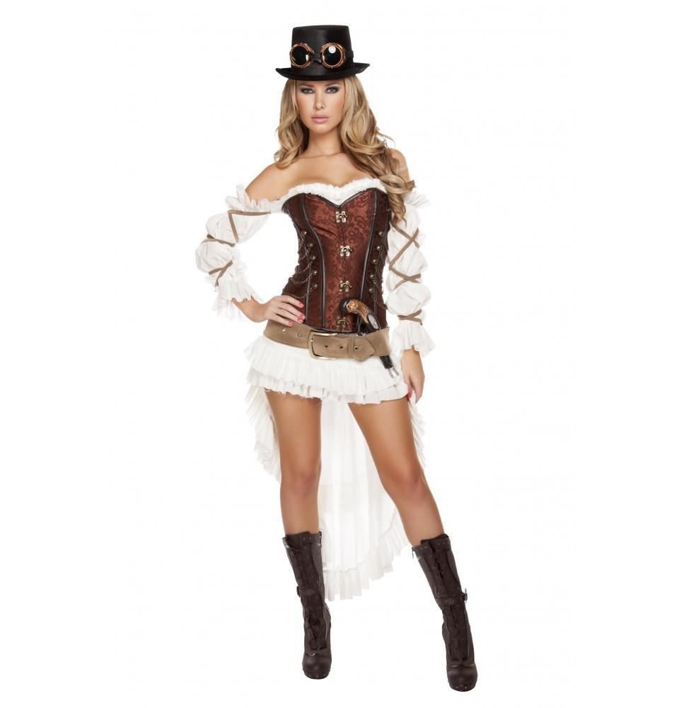 Buy 4576 - 7pc Sexy Steampunk Babe from Rave Fix for $133.50 with Same Day Shipping Designed by Roma Costume, Inc. 4576-AS-S