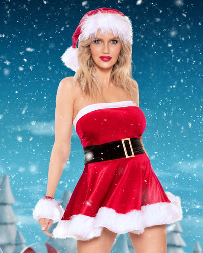 Rave Fix Christmas Sexy Santa Costume Outfit. 1pc Santa Cutie includes Dress with Faux Fur Trim. Great Christmas Gift Ideas. Sexy Santa Outfit. Free Shipping
