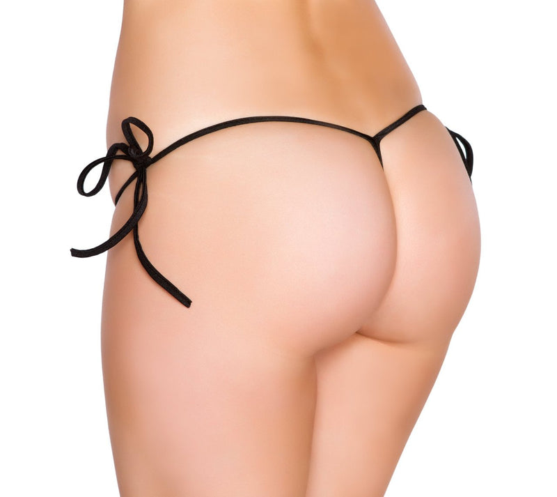 Buy Tiny Tie Side GString Bottom from Rave Fix for $10.00 with Same Day Shipping Designed by Roma Costume ChipTie-Blk-O/S