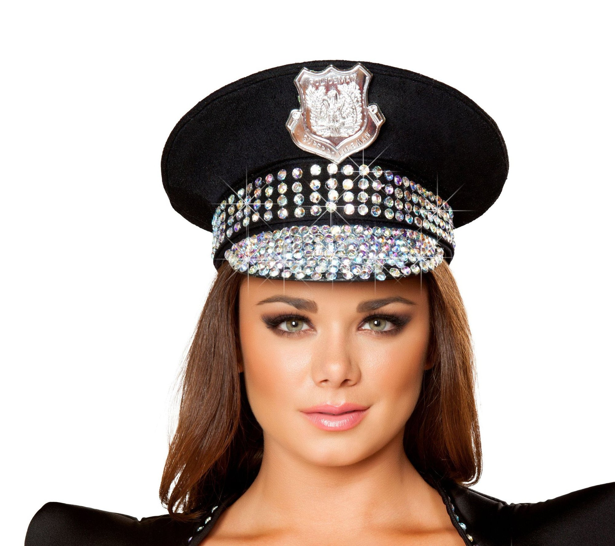 Buy H4396 Studded Police Hat from Rave Fix for $37.50 with Same Day Shipping Designed by Roma Costume H4396-AS-O/S