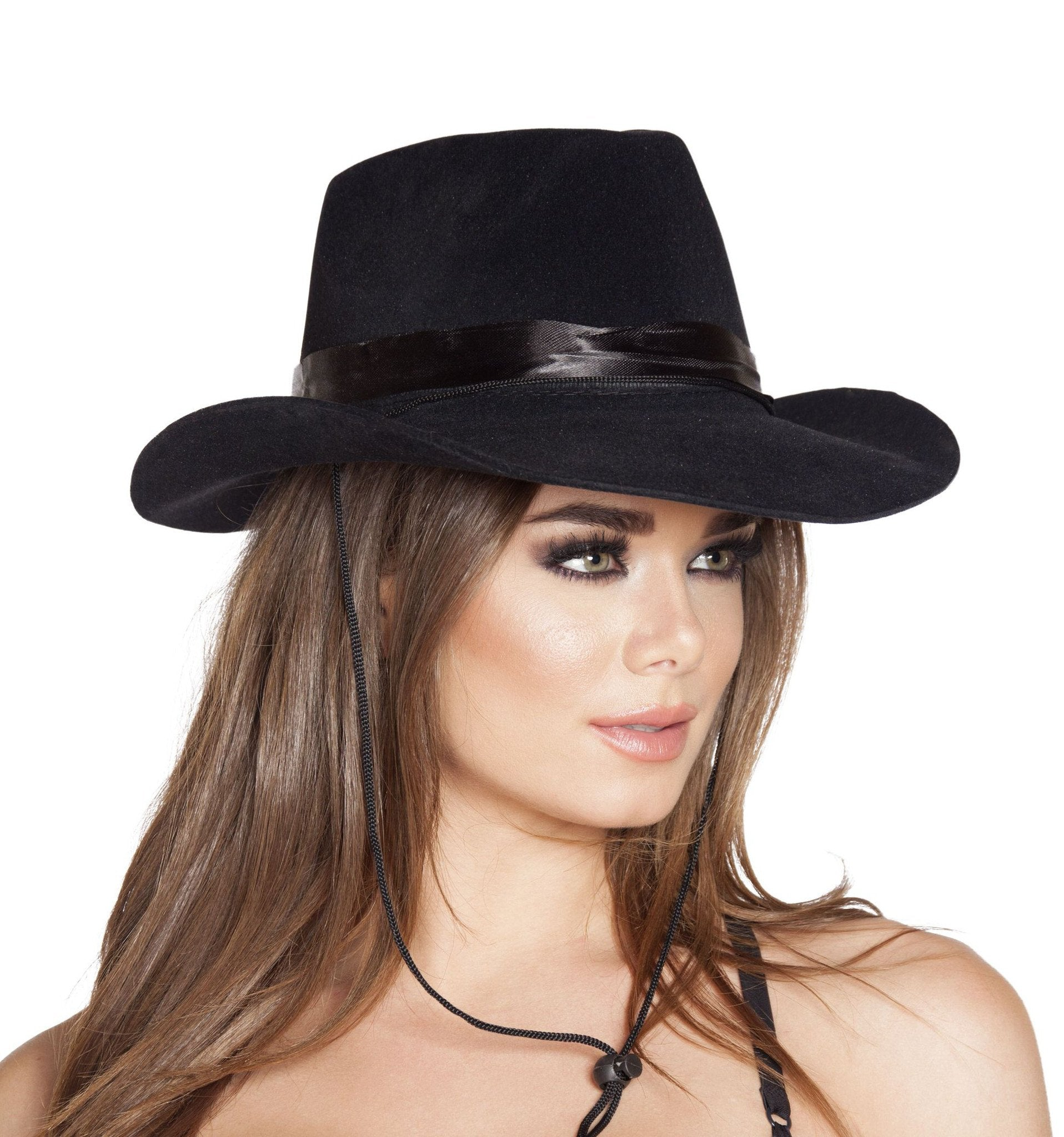 Buy Black Cowboy Hat from Rave Fix for $7.99 with Same Day Shipping Designed by Roma Costume, Inc. H4571-AS-O/S