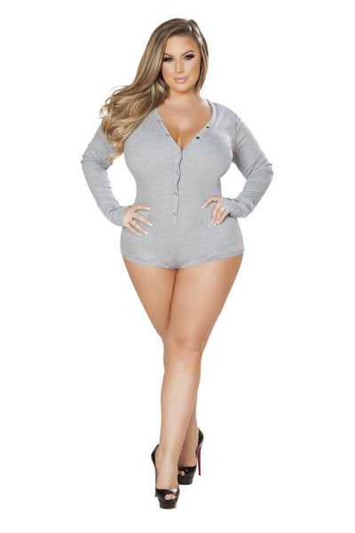 Buy Cozy and Comfy Sweater Pajama Romper from Rave Fix for $23.99 with Same Day Shipping Designed by Roma Costume LI211-Grey-XL/XXL