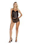 Buy LI225 - Elegant Pajama Set from Rave Fix for $26.25 with Same Day Shipping Designed by Roma Costume LI225-Blk-S/M