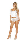 Buy LI225 - Elegant Pajama Set from Rave Fix for $26.25 with Same Day Shipping Designed by Roma Costume LI225-Wht-S/M