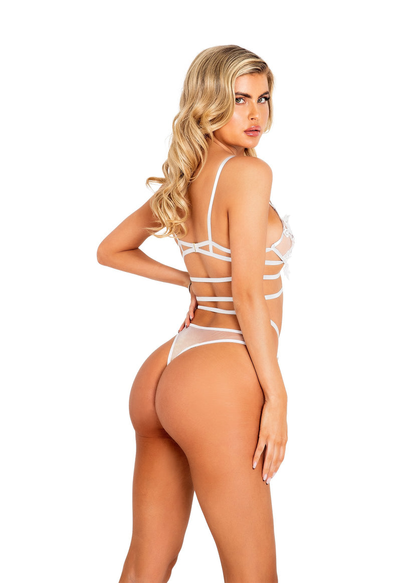 2pc Bridal Criss-Cross Bra Set