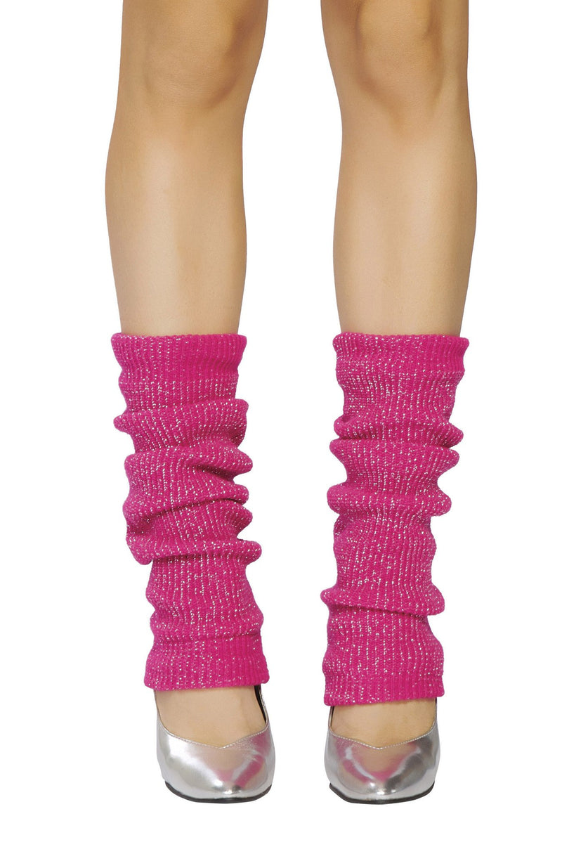Buy Pair of Leg Warmer with Shiny Detail from Rave Fix for $3.99 with Same Day Shipping Designed by Roma Costume LW102-HP/Slvr-O/S