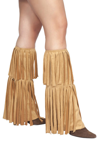 Pair of Suede Fringed Leg Warmers