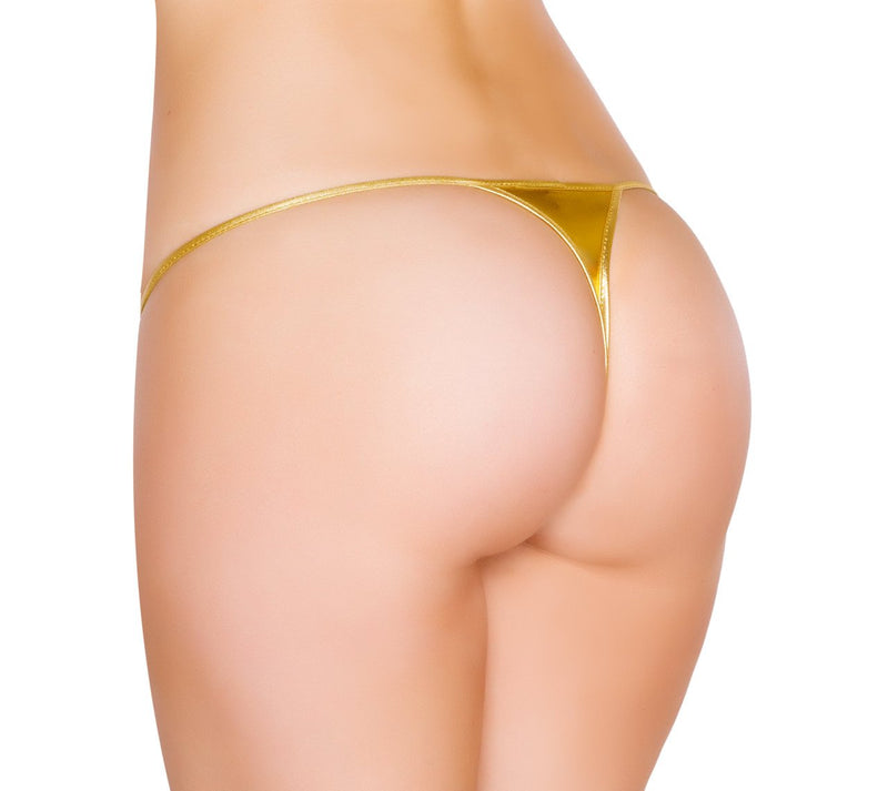 Buy Micro Metallic Bikini Bottom from Rave Fix for $12.00 with Same Day Shipping Designed by Roma Costume MicroLQ-Blk-O/S