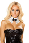 Buy Rhinestone Tuxedo Choker from Rave Fix for $11.25 with Same Day Shipping Designed by Roma Costume NEC10120-Wht-O/S