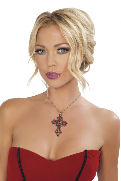 Buy Red Cross Necklace from Rave Fix for $2.99 with Same Day Shipping Designed by Roma Costume NEC404-AS-O/S