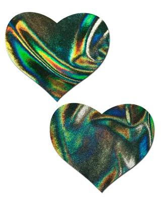 Buy 2pc Heart Pasties from Rave Fix for $6.75 with Same Day Shipping Designed by Roma Costume P104-Green-O/S