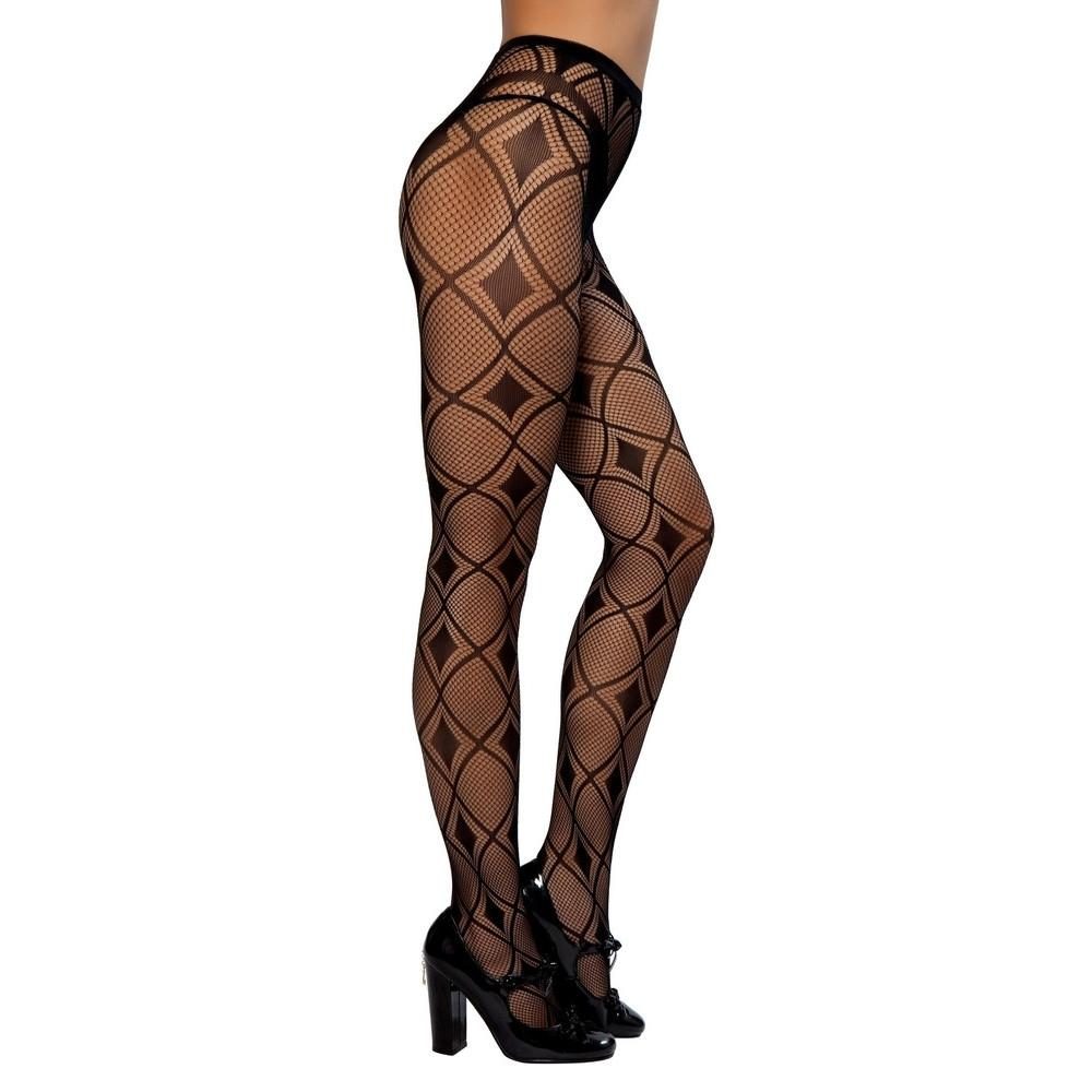 Buy Pair of Diamond Shaped Pantyhose from Rave Fix for $5.25 with Same Day Shipping Designed by Roma Costume PH102-AS-O/S