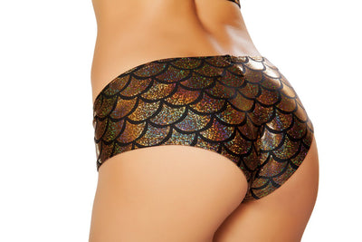 Buy SH3263 - Mermaid Shorts from Rave Fix for $16.00 with Same Day Shipping Designed by Roma Costume SH3263-Gold-O/S
