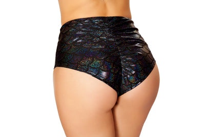 Buy High Waisted Pucker Back Mermaid Shorts from Rave Fix for $18.75 with Same Day Shipping Designed by Roma Costume SH3313-Blk-S/M
