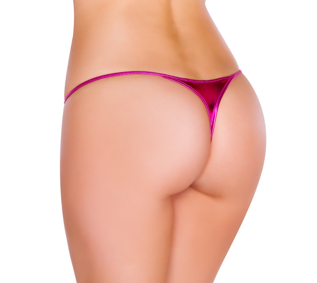Buy Sexy Metallic Bikini Bottom Thong from Rave Fix for $12.00 with Same Day Shipping Designed by Roma Costume SJLQ-Blk-O/S