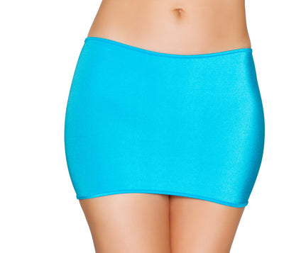 "Buy Lycra 10.5"" Mini Skirt from Rave Fix for $8.25 with Same Day Shipping Designed by Roma Costume SK105-Turq-O/S"