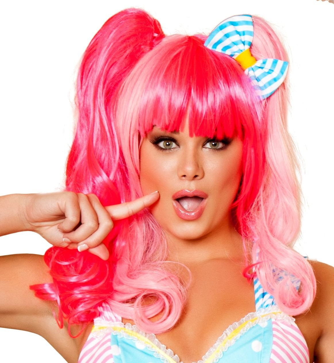 Buy WIG102 - Pink Wig from Rave Fix for $49.00 with Same Day Shipping Designed by Roma Costume WIG102-Pink-O/S