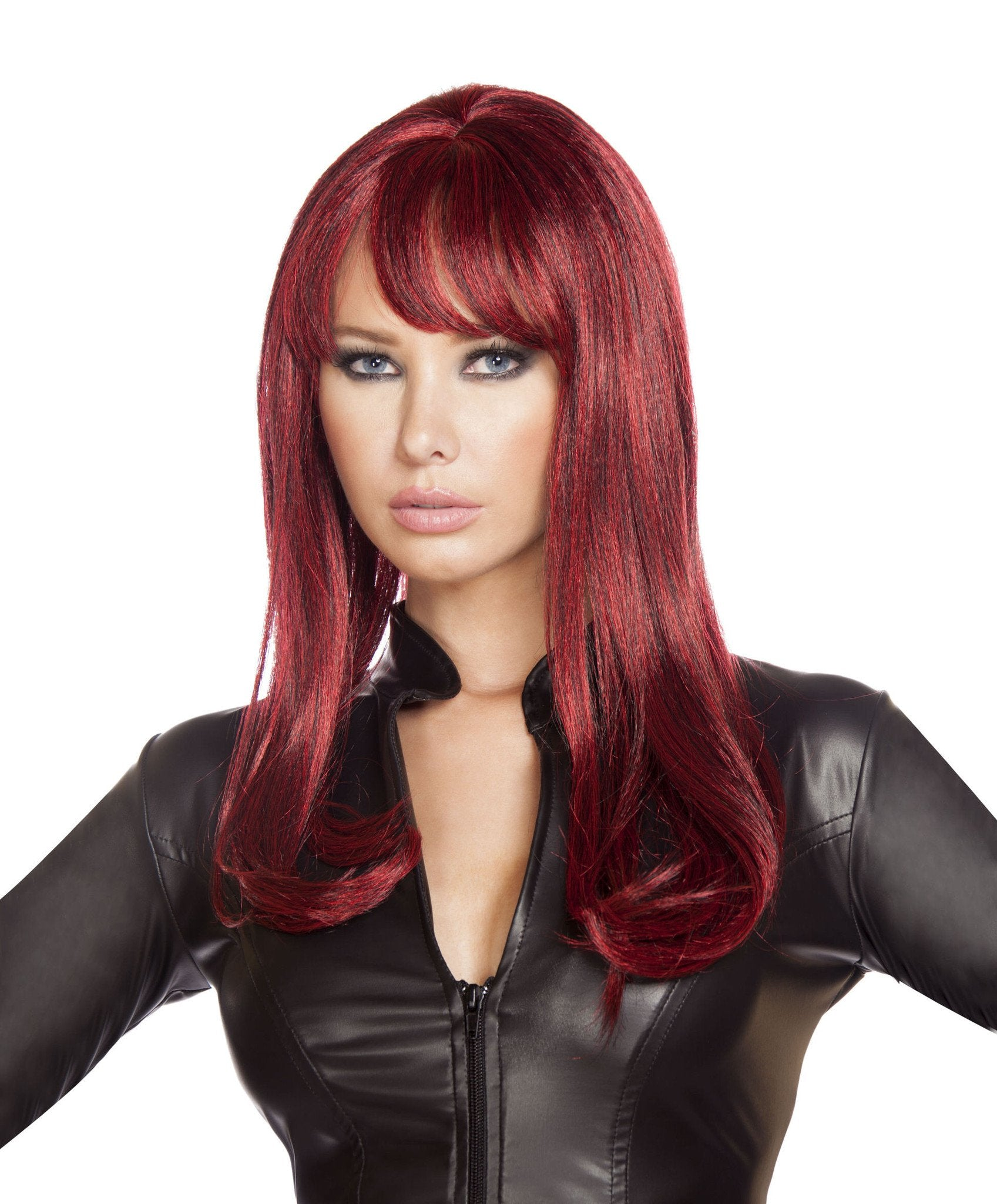 Buy Burgundy Wig from Rave Fix for $34.99 with Same Day Shipping Designed by Roma Costume, Inc. WIG103-Burg-O/S