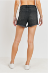 JBD Black Mid Rise Distressed Short