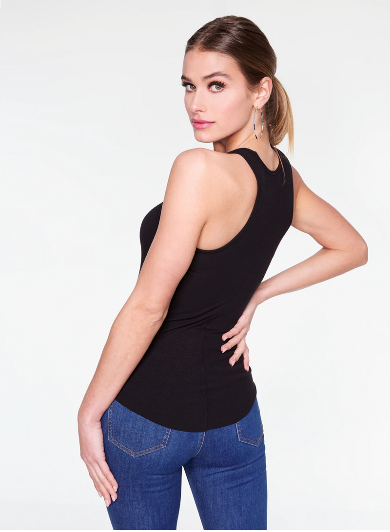 HeyYou Basic Black Ribbed Tank Top