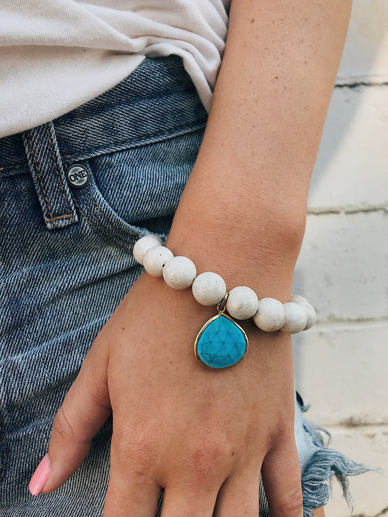 River Sediment Bracelet // Gemstone Charm