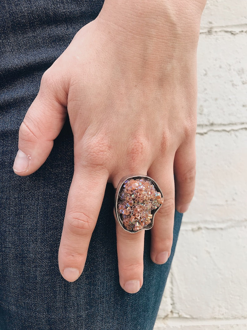 Mystic Aragonite Ring