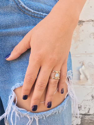 Dainty Ring // Double Bar