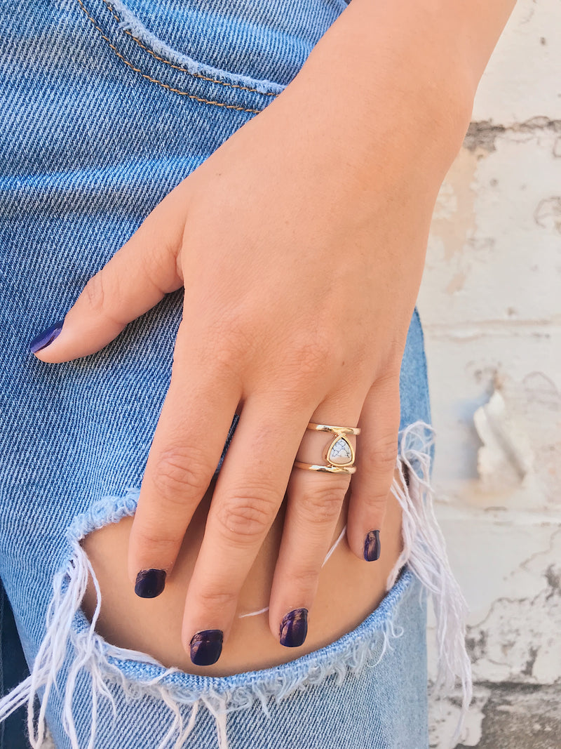 Dainty Rings // Double Bar